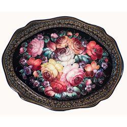 Поднос Жостово Букет с розами, фото 1