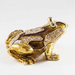 Шкатулка коричневая лягушка, фото 1