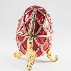 Яйцо красное ажурное, фото 1