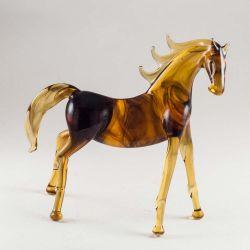 Конь гнедой стеклянная фигурка, фото 1