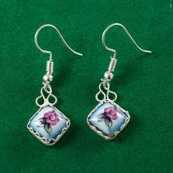 Серьги эмалевые Бирюсинка голубые, фото 1