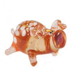 Свинка стеклянная фигурка, фото 1