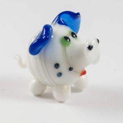 Свинка белая стеклянная, фото 1
