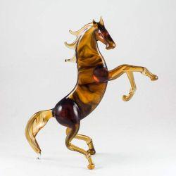 Конь на дыбах коричневый, фото 1
