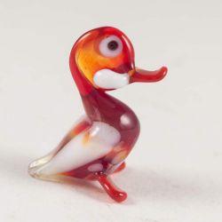 Утка красная миниатюрная фигурка, фото 1