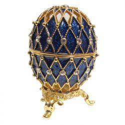 Яйцо Ажурная сетка, синее, фото 1