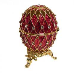 Яйцо Ажурная сетка, красное, фото 1