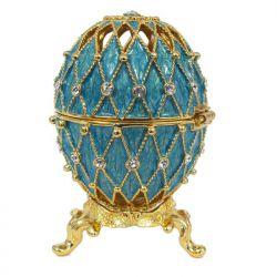 Яйцо Ажурная сетка, бирюза, фото 1