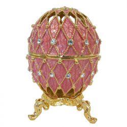 Яйцо Ажурная сетка, розовое, фото 1