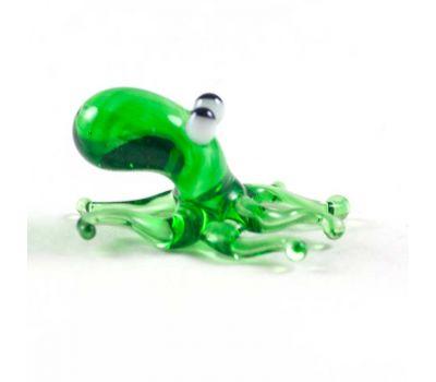 Cтеклянная фигурка зеленого Осьминога, фото 1