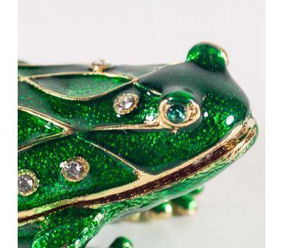 Шкатулка зеленая лягушка, фото 3