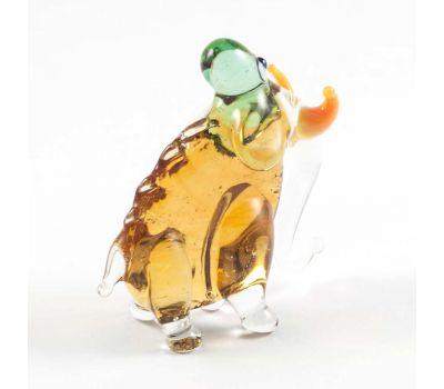 Мамонт бежевый фигурка стеклянная, фото 2