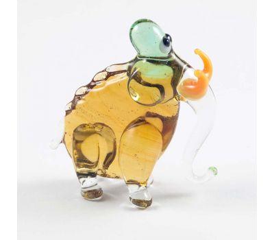 Мамонт бежевый фигурка стеклянная, фото 3