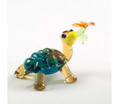Веселая черепаха с цветочком, фото 1