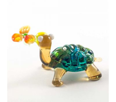 Веселая черепаха с цветочком, фото 3