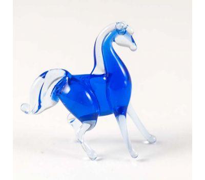 Конь синий фигурка, фото 1