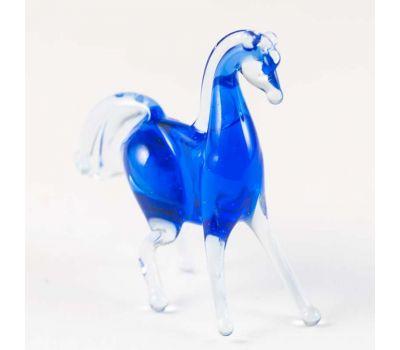 Конь синий фигурка, фото 2
